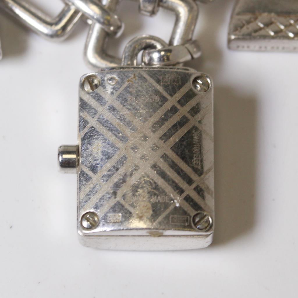 Women S Burberry Sterling Silver Charm Bracelet Watch