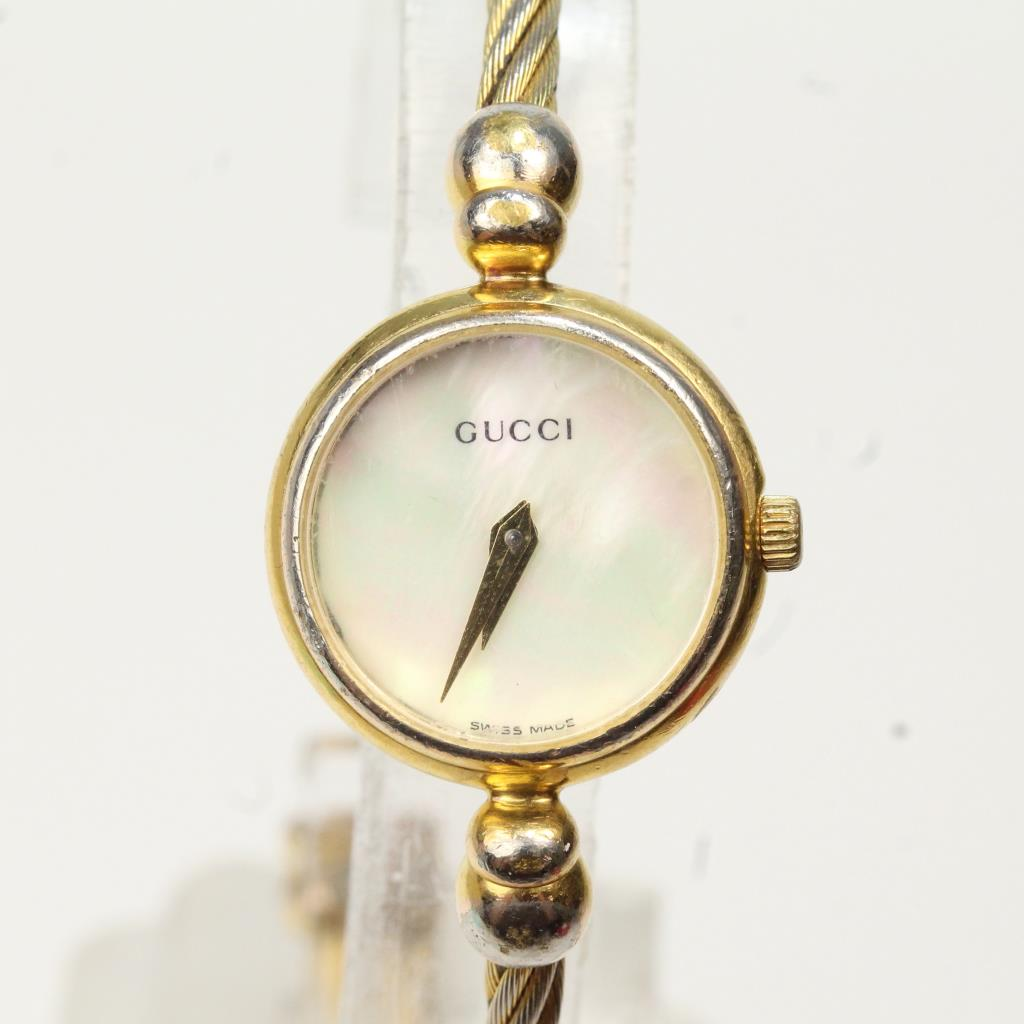 51f48399cc9 Women s Gucci Mother Of Pearl Bangle Watch