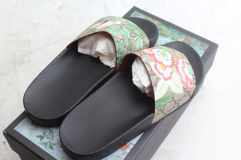 2c163eb0c87b Women s Gucci Tian Slide Sandal