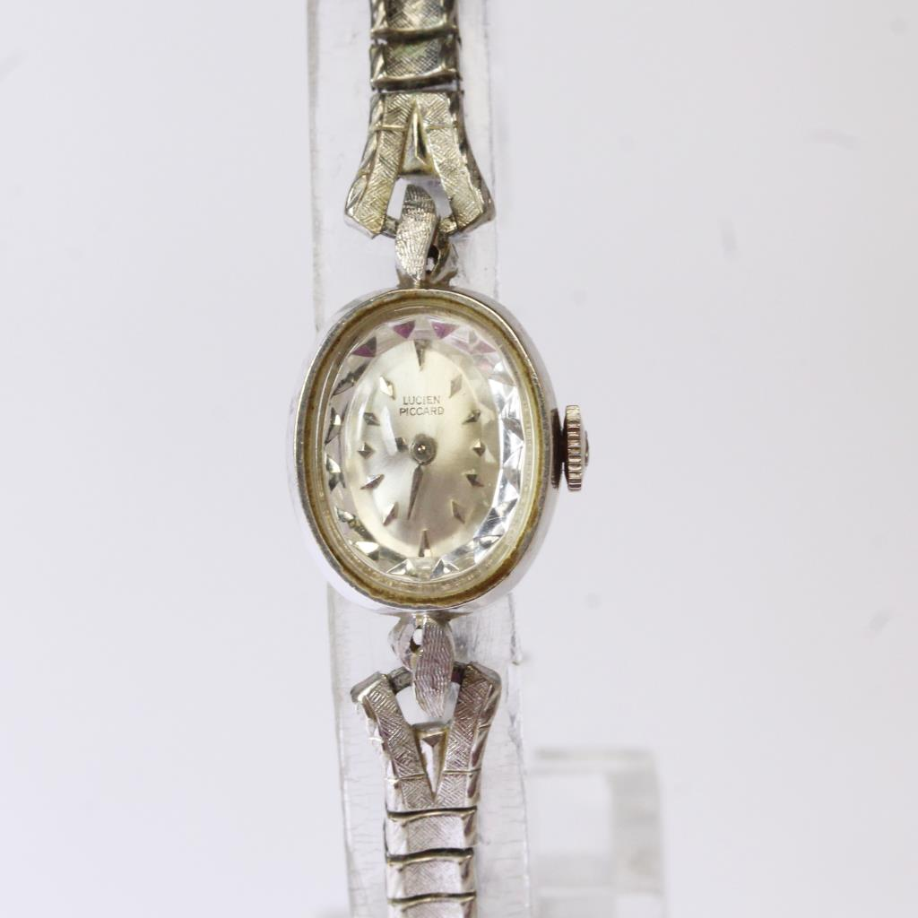 Women S Lucien Piccard Vintage 14kt White Gold Watch