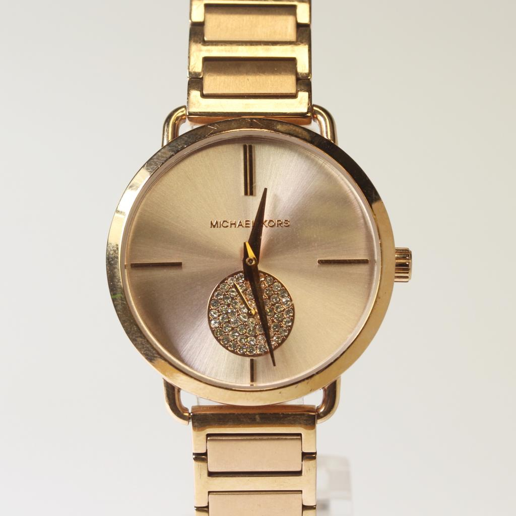 996c69313322 Womens Portia Rose Gold Colored Michael Kors Watch