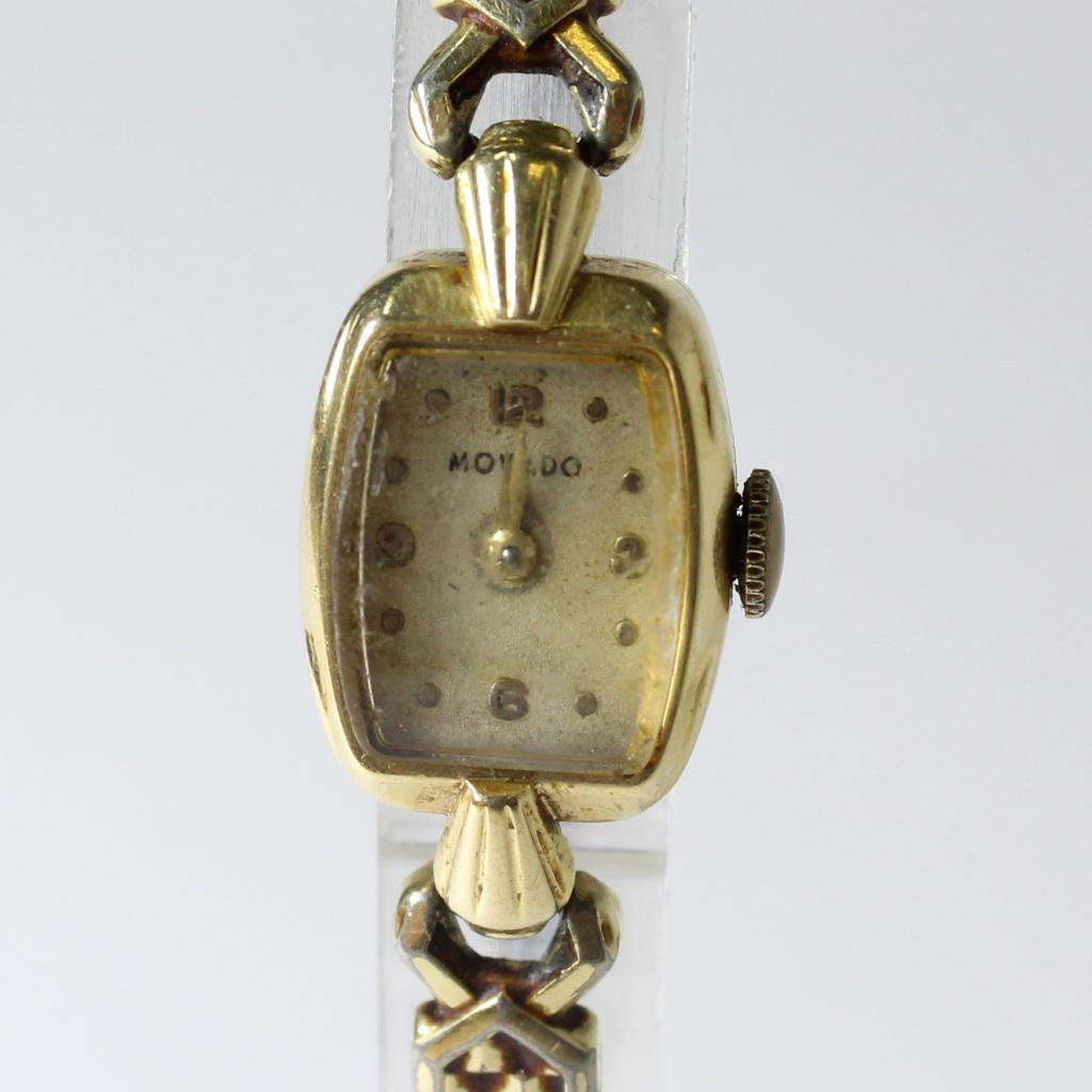 Women S Vintage 1950s Movado 14kt Gold Watch Property Room