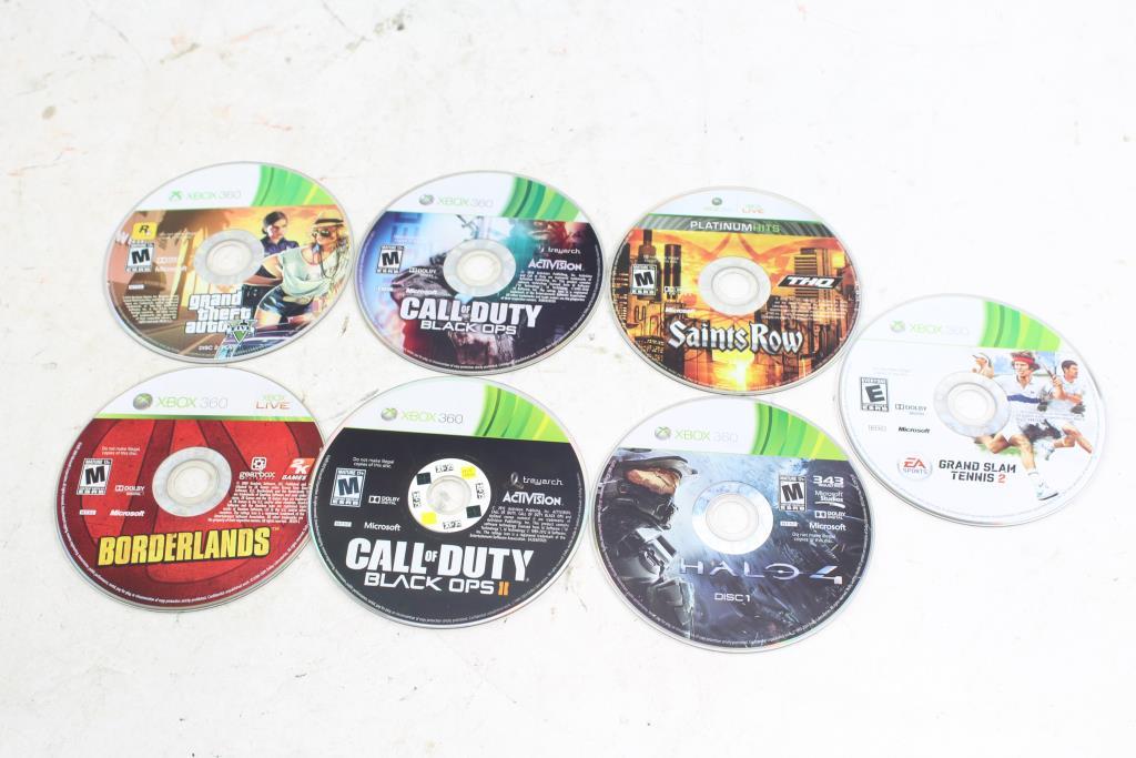 Xbox 360 Games Call Of Duty Saints Row Gta V Halo 4 And More