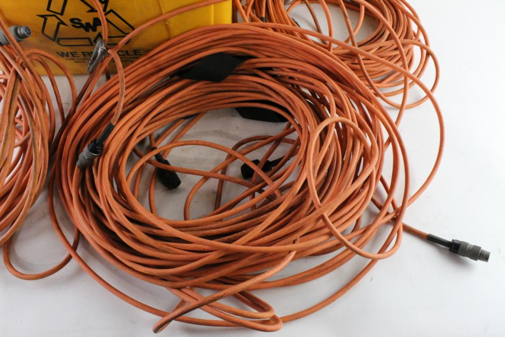 Yellow Bin With Savox Con-Space Cable Connectors And More, 5
