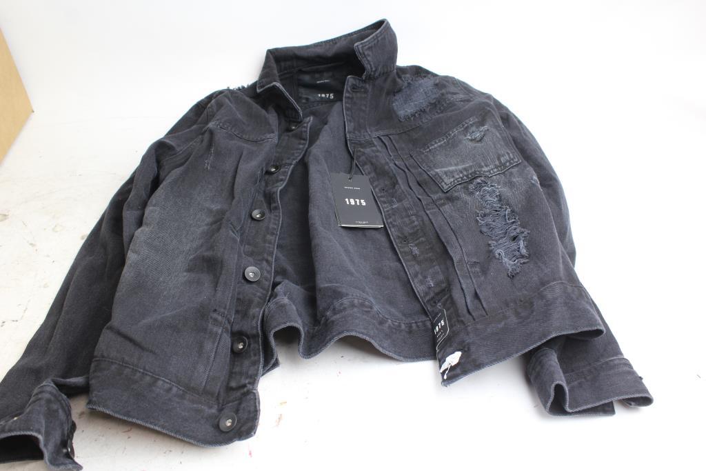 Zara Man Original Denim 1975 Black Jeans Jacket Property Room