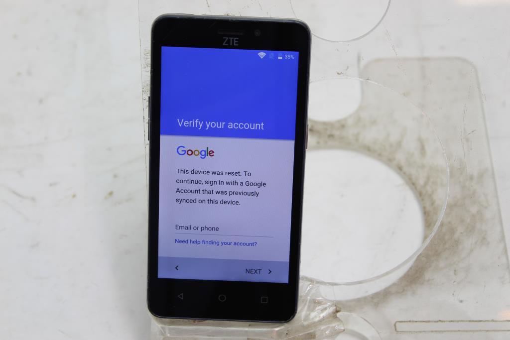 ZTE Sonata 3, 8GB, Cricket Wireless, Google Account Locked