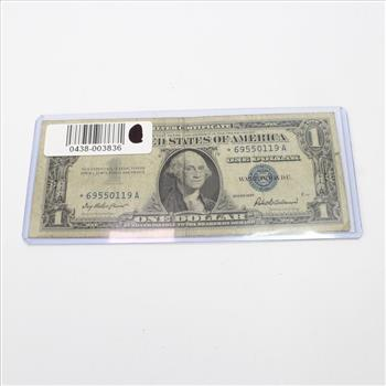 1957 Silver Certificate One Dollar Star Note   Property Room