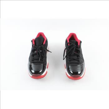 air-jordan-11-bred-retro-low-shoes-black-red-mens-size-115 49762d54fd