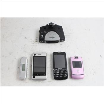 Bulk Electronics Lot, Radar Detectors, Cell Phones And More