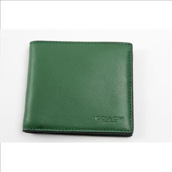 3e4419ef Coach F75084 Men Black Billfold Double Fold Bifold Leather ...