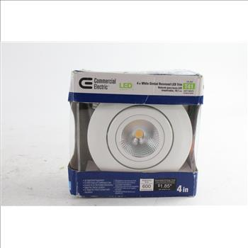 Commercial Electric 4 White Gimbal Recessed Led Trim Light
