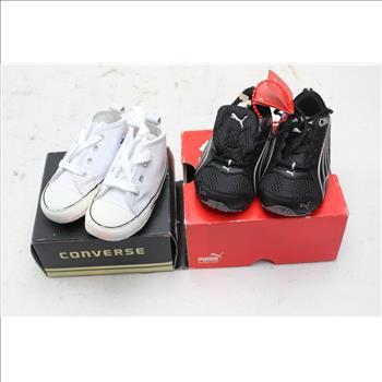 Converse, Puma Infant Boy Shoes, Size 3, 2 Pieces ...