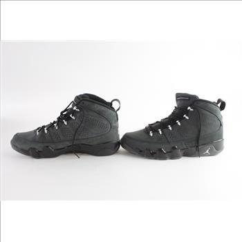new product c3c7f 88c6e ... 9 photo size 9.5 black blue white light 17ln269 for  nike air jordan  retro ix anthracite mens shoes size 14