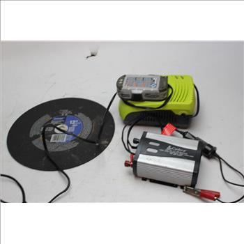 Ryobi Charger, Scobra Dc To Ac Inverter Power+more Tool Bulk Lot