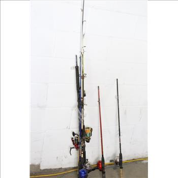 shakespeare firebird and other fishing poles 10 pieces property