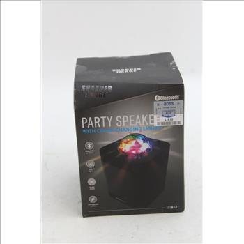 Sharper Image Sbt613 Bluetooth Wireless Party Speaker With Lights