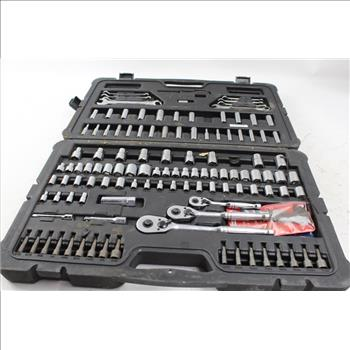 Stanley Mechanics Tool Set: Sockets, Ratchets, Wrenches