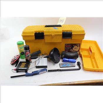 Toolbox Sockets Xm Satellite Radio Flashlight Tire Iron And More