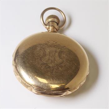 Vintage 19th Century Gold Filled Elgin Pocket Watch Property Room