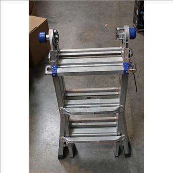 Werner 13 Ft Aluminum Telescoping Multi Position Ladder