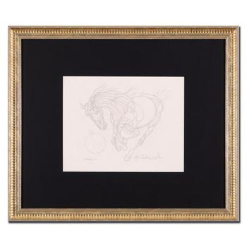 "Guillaume Azoulay - ""AU Sketch"" Framed Original Drawing, Hand Signed with Certificate of Authenticity. List $4,950"