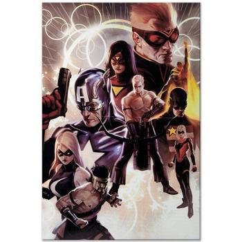"Marvel Comics! ""The Mighty Avengers"" LTD ED Giclee on Canvas by Marko Djurdjevic, Numbered with Certificate! List $500"