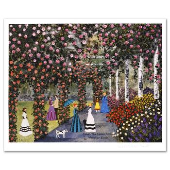 "Jane Wooster Scott! ""Down the Garden Path"" Ltd Ed Lithograph, Numbered and Hand Signed with Certificate!"