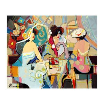 "Isaac Maimon - ""Remarkable Moments"" Original Acrylic Painting on Canvas, Hand Signed with Certificate. List $6,000"