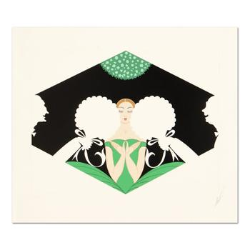 "Erte (1892-1990) - ""The Suitors"" Limited Edition Serigraph, Numbered and Hand Signed with Certificate. $4,175"