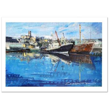 """Zwarenstein! """"Penzance Harbor"""" Ltd Ed Giclee on Canvas (36"""" x 24""""), Numbered and Hand Signed with Certificate! List $2,000"""