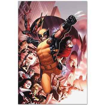 "Marvel Comics! ""Avengers: The Children's Crusade #2"" LTD ED Giclee on Canvas by Jim Cheung, Numbered with Certificate! List $500"