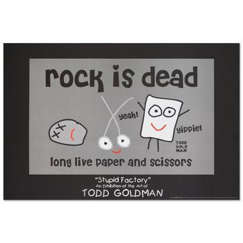 "Todd Goldman! ""Rock is Dead"" Fine Art Litho Poster (36"" x 24"")."