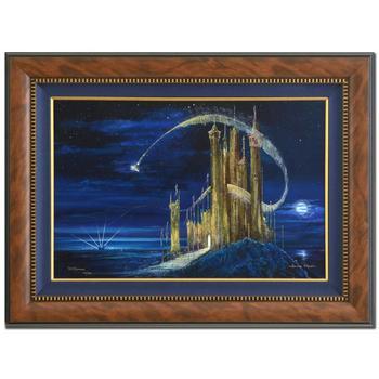 """Peter (d. 2007) & Harrison Ellenshaw! """"Gold Castle"""" Framed Ltd Ed Giclee on Canvas, No & Hand Signed w/Cert! $1,300 - Disclaimer"""