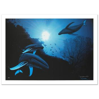"""Wyland! """"Whale Vision"""" Limited Edition Giclee on Canvas (42"""" x 30""""), Numbered and Hand Signed with Certificate! List $3,550"""