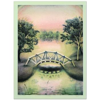 """Gerald Fried - """"Footbridge"""" Limited Edition Lithograph, Numbered and Hand Signed by the Artist! List $400"""