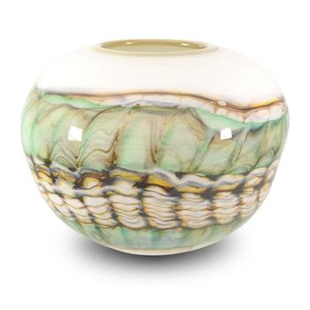 """Strata Series Small Opal Sphere"" Hand Blown Glass Bowl Sculpture, Hand Signed by GartnerBlade Glass. List $435"