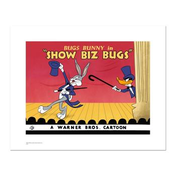 """Warner Bros.! """"Show Biz Bugs"""" Ltd Ed Giclee, Hand Numbered with Hologram Seal of Authenticity & Cert! $250"""