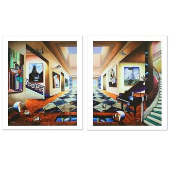 """Ferjo! """"Perfect Afternoon"""" Ltd Ed Giclee Diptych on Canvas, Numbered and Hand Signed with Certificate! List $2,500"""
