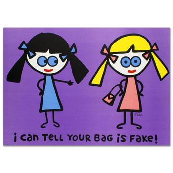 """Todd Goldman! """"I Can Tell Your Bag is Fake"""" Ltd Ed Lithograph (38"""" x 27""""), Numbered and Hand Signed with Certificate! List $800"""