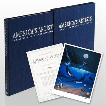 """""""America's Artists: The Artists of Wyland Galleries"""" (2004) LtdEd Art Book by Wyland Hand Signed by All Artists w/Cert List $750"""