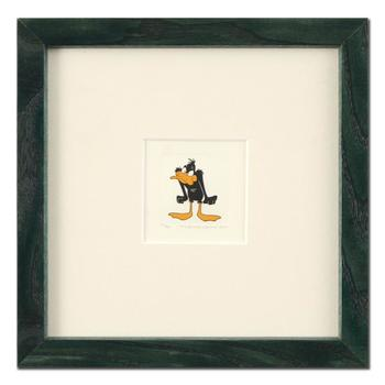 """""""Daffy Duck (Angry)"""" Framed Limited Edition Etching with Hand-Tinted Color, Numbered."""