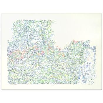 """Traudi Flaxman - """"Marie's Garden"""" Limited Edition Lithograph, Numbered and Hand Signed by the Artist! List $400"""