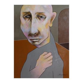 "Berberyan, ""Lost"" Original Mixed Media on Canvas with COA."