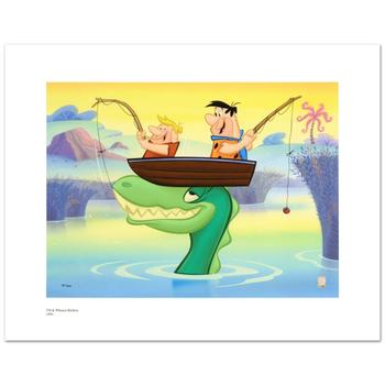 """Hanna-Barbera! """"Fred and Barney Fishing"""" Ltd Ed Giclee, Hand Numbered with Hologram Seal of Authenticity & Cert! $250"""