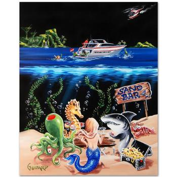 """Godard! """"Sand Bar 1"""" Mural LTD ED Hand-Embellished Giclee on Canvas (42"""" x 53""""), M Numbered and Signed with Cert! List $3,500"""