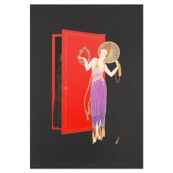 """Erte (1892-1990), """"New Years Eve"""" Limited Edition Serigraph, Numbered and Estate Signed with Certificate. $3,000"""