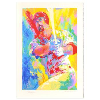 """Leroy Neiman (1921-2012) - """"Mark McGwire"""" Ltd Ed Numbered 292/509 and Hand Signed Neiman and McGwire with LOA. $10,500"""