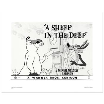 "Warner Bros.! ""A Sheep In the Deep"" Ltd Ed Giclee, Hand Numbered with Hologram Seal of Authenticity & Cert! $250"