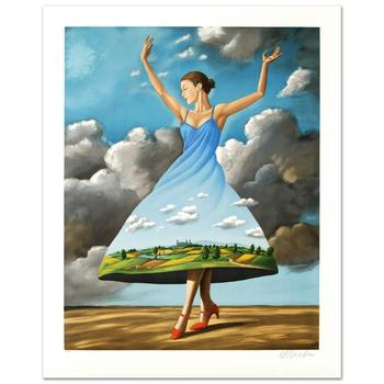 "Rafal Olbinski! ""Texture of Casual Desire"" Ltd Ed Hand Pulled Original Lithograph Numbered and Hand Signed, w/Cert! List $1200"