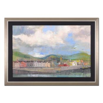 "Alex Zwarenstein, ""Seagulls Over Dingle"" Framed Original Oil Painting on Canvas, Hand Signed with Certificate. List $30,600"